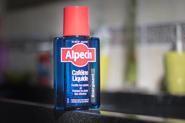 test lotion cafeine liquide alpecin anti chute antipelliculaire