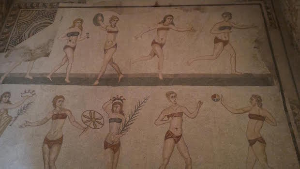 Villa romana de Casale, le bikini antique