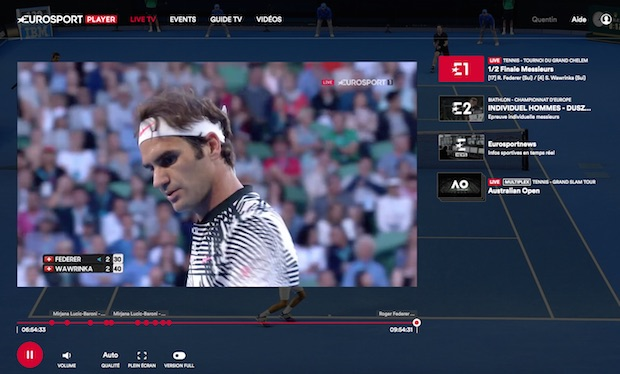 test eurosport player avis screnshot