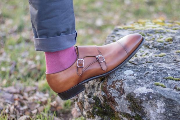 test chaussure double boucle carlos santos avis cuir