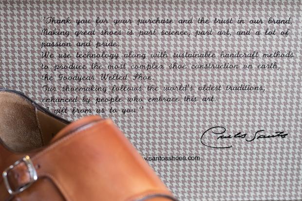 test chaussure double boucle carlos santos avis message