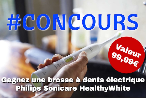 concours brosse a dents electrique philips sonicare healthywhite