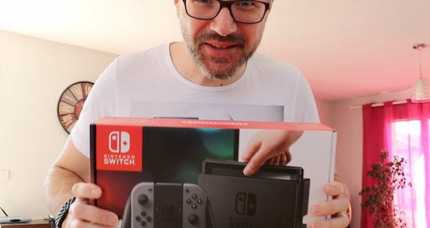 deballage switch unboxing nintendo