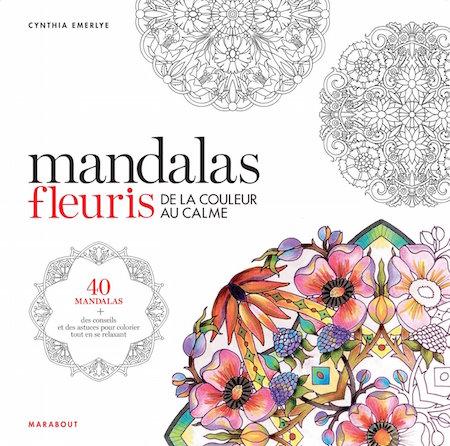 coloriages mandalas fleuris a colorier livre dessin adulte
