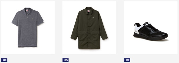 soldes lacoste live homme