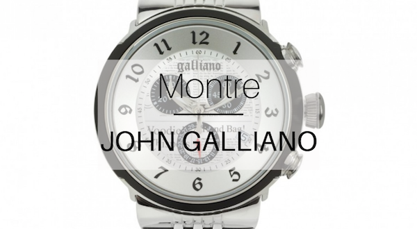 montre chrono John Galliano
