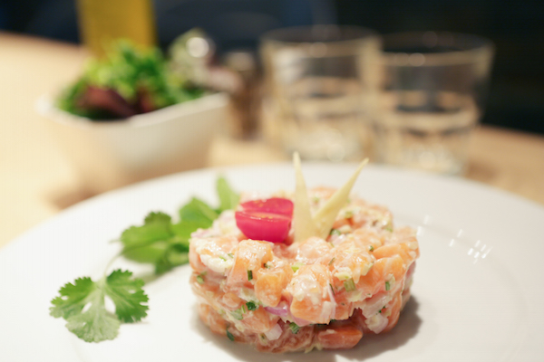 spicy home paris fusion food TARTARE DE SAUMON AU GINGEMBRE