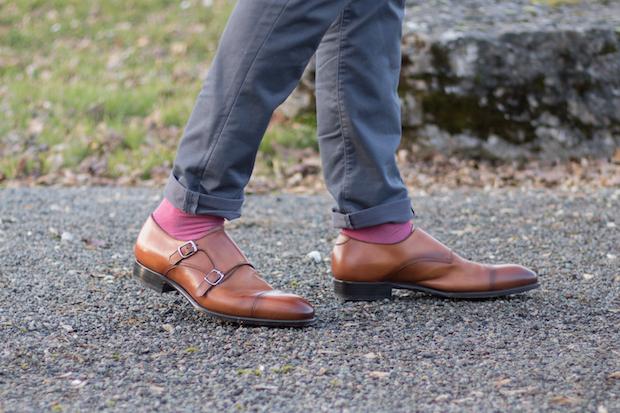 test avis chaussures double boucle carlos santos gentleman moderne. Black Bedroom Furniture Sets. Home Design Ideas