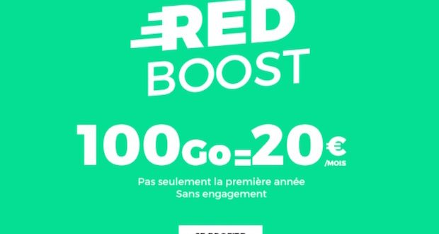 red by sfr forfait 100go 20 euros
