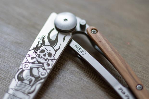 couteau deejo personnalisable fete des peres 82