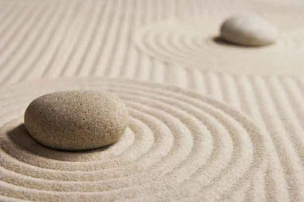 jardin zen miniature interieur sable