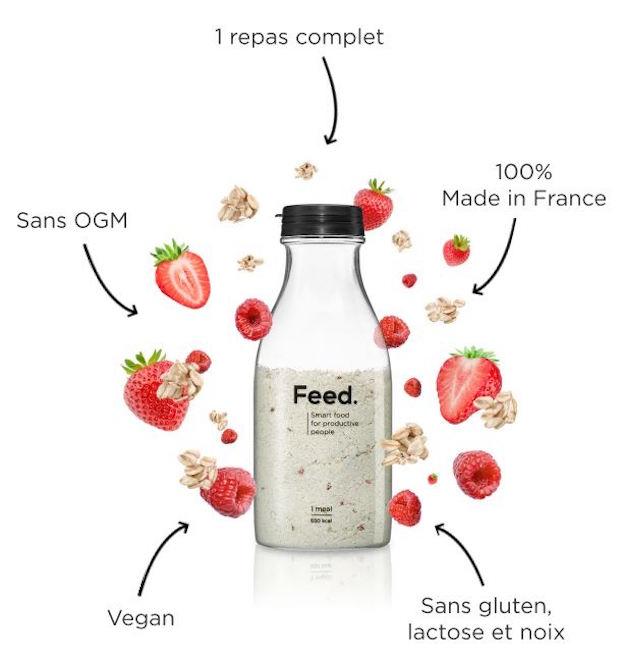 test avis feed food tech bouteille