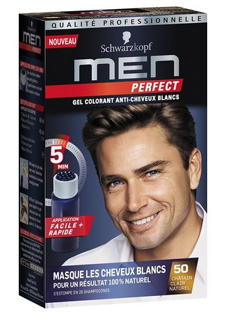 Schwarzkopf men perfect- gel colorant brun