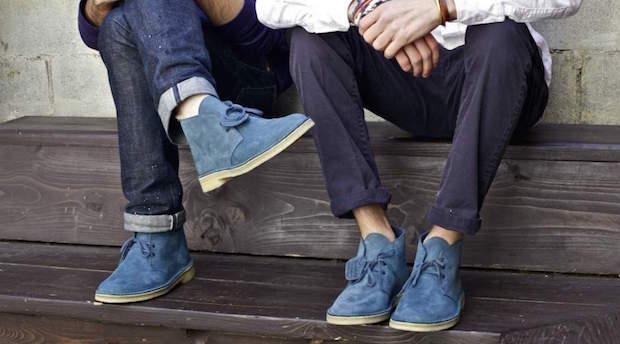 homme boot clarks comment porter bleue