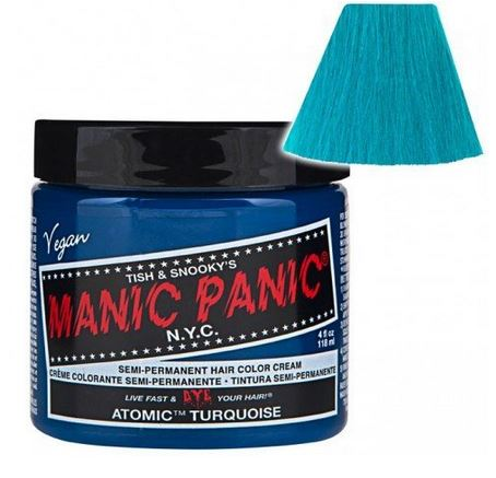 panic high voltage, hair color blue