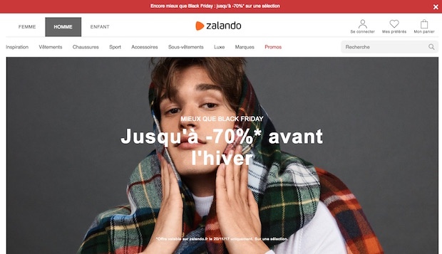 black friday week zalando offre