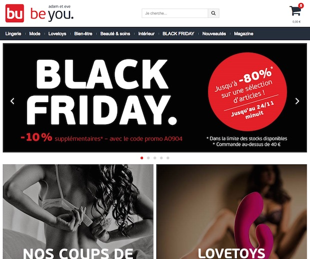 bon plan black friday promo adam et eve