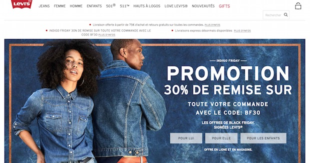 bon plan black friday promo levis