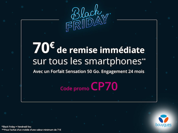 bouygues telecom 70 euros de remise black friday 2017