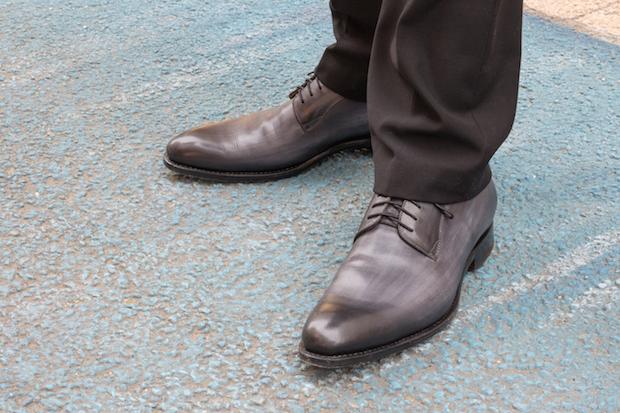 derby les crafteurs test avis achille cuir patine gris 84