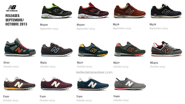 New Balance Made in UK:US modèles