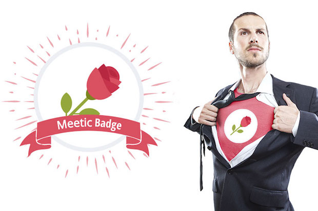 Meetic - Le badge pour gentleman