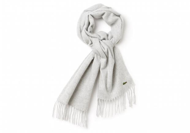 Selection Lacoste hiver homme echarpe laine cachemire