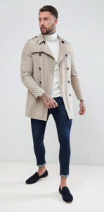 Trench Asos coupe croise beige