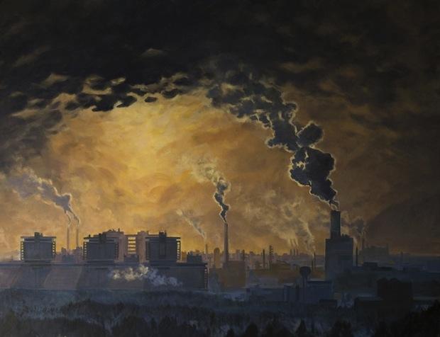 tableau peinture kazoart cheminees et fumees