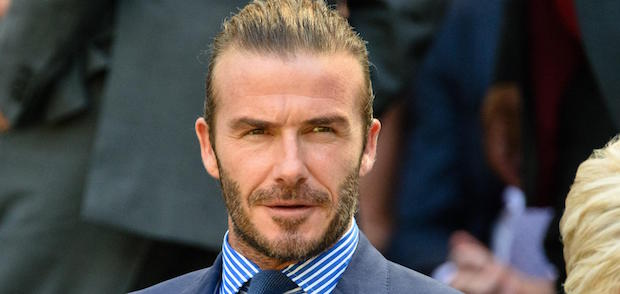 David Beckham cheveux longs