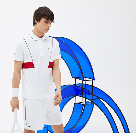 novak djokovic lacoste collection rolland garros 2018 polo