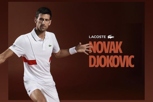 Collection Lacoste Novak Djokovic pour Roland Garros 2018