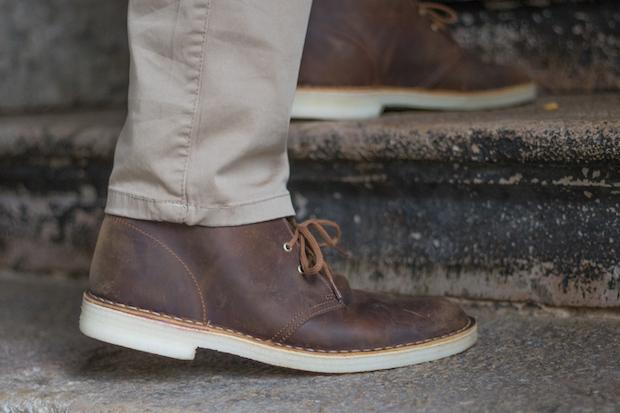 test clarks avis desert boots arriere