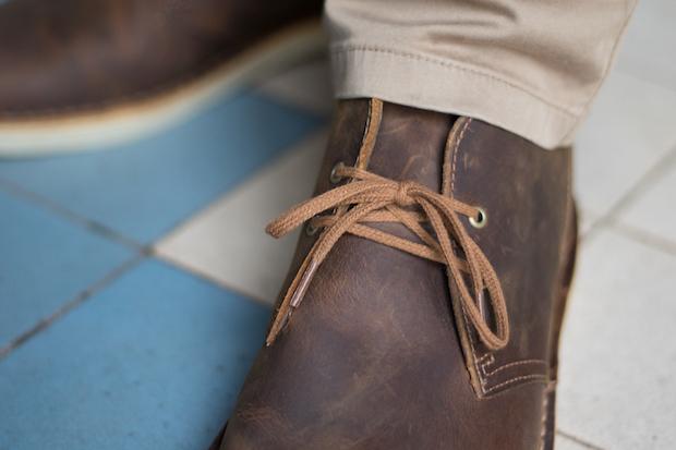 test clarks avis desert boots lacets
