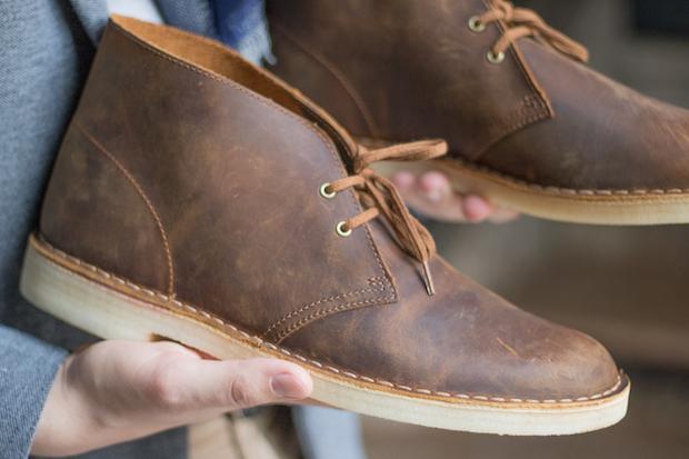test clarks avis desert boots matiere