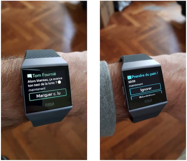 test ionic fitbit notification