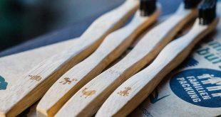 brosse a dent en bambou biodegradable en bois