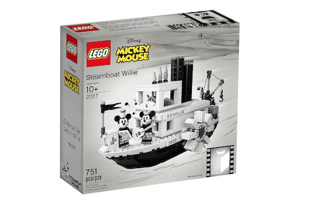 lego mickey bateau noir et blanc steamboat willie