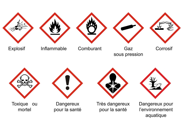 produit menager naturel sain logo danger