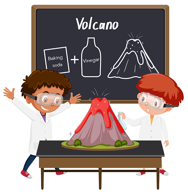 experiences-scientifiques-enfants-volcan-bicarbonate