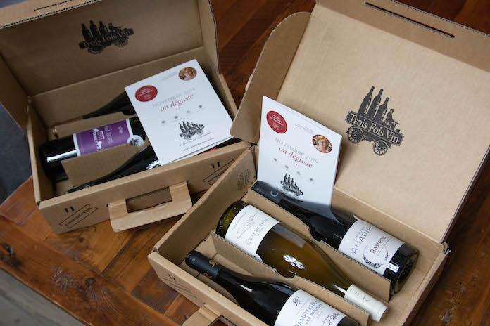 avis trois fois vin box coffret bouteille