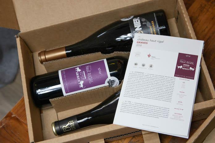 avis trois fois vin box coffret livret