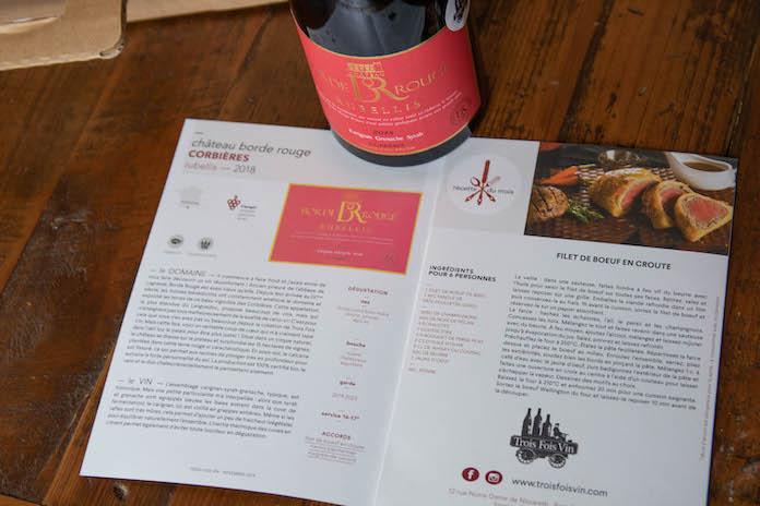 avis trois fois vin box coffret recette