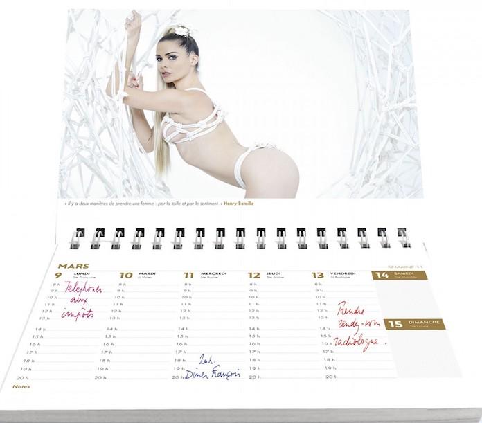 calendrier clara morgane 2020 agenda sexy
