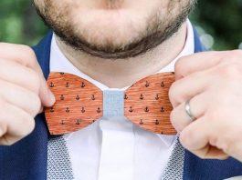 nordic wood noeud papillon en bois ancre