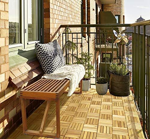 amenager sol balcon dalle bois