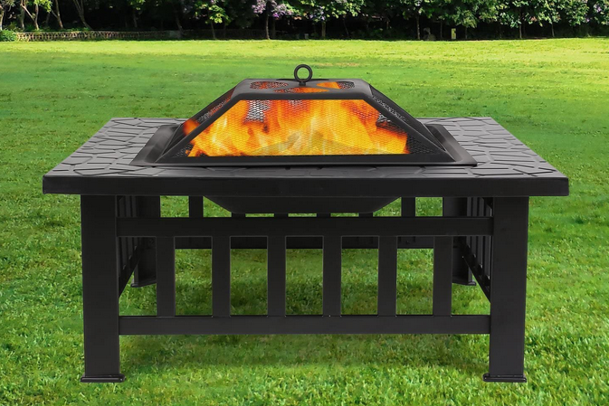 foyer exterieur feu glaciere terrasse jardin barbecue grill fumoir