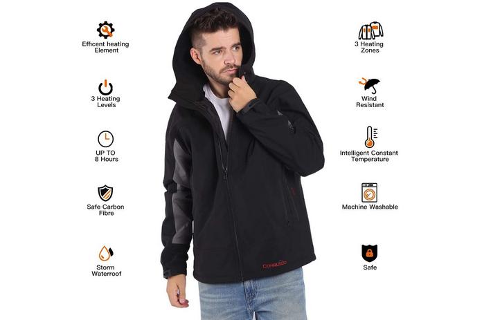 innovation start up veste homme chauffante electrique resistante pas cher impermeable