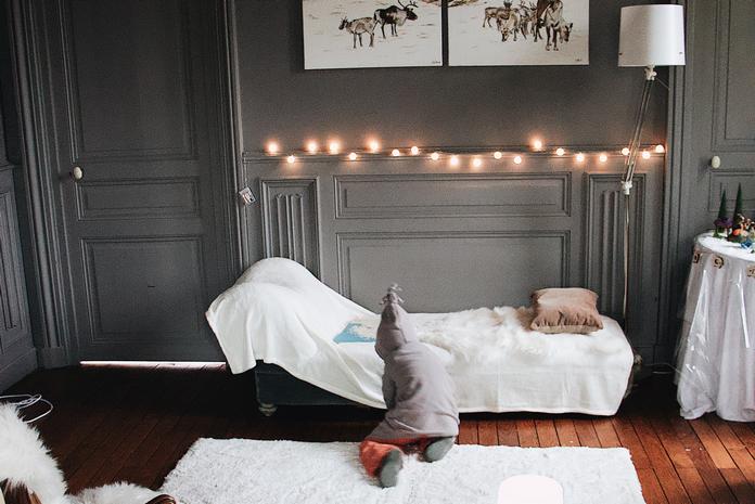 interieur deco coocooning cozy guirlande lumiere tamisee