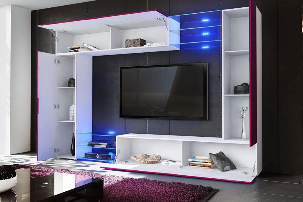 rangement malin maison salon meuble tv television bibliotheque buffet etagere